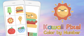 Kawaii Pixel Art - Color by Number